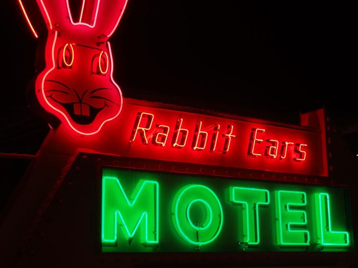 Rabbit Ears Motel text go here