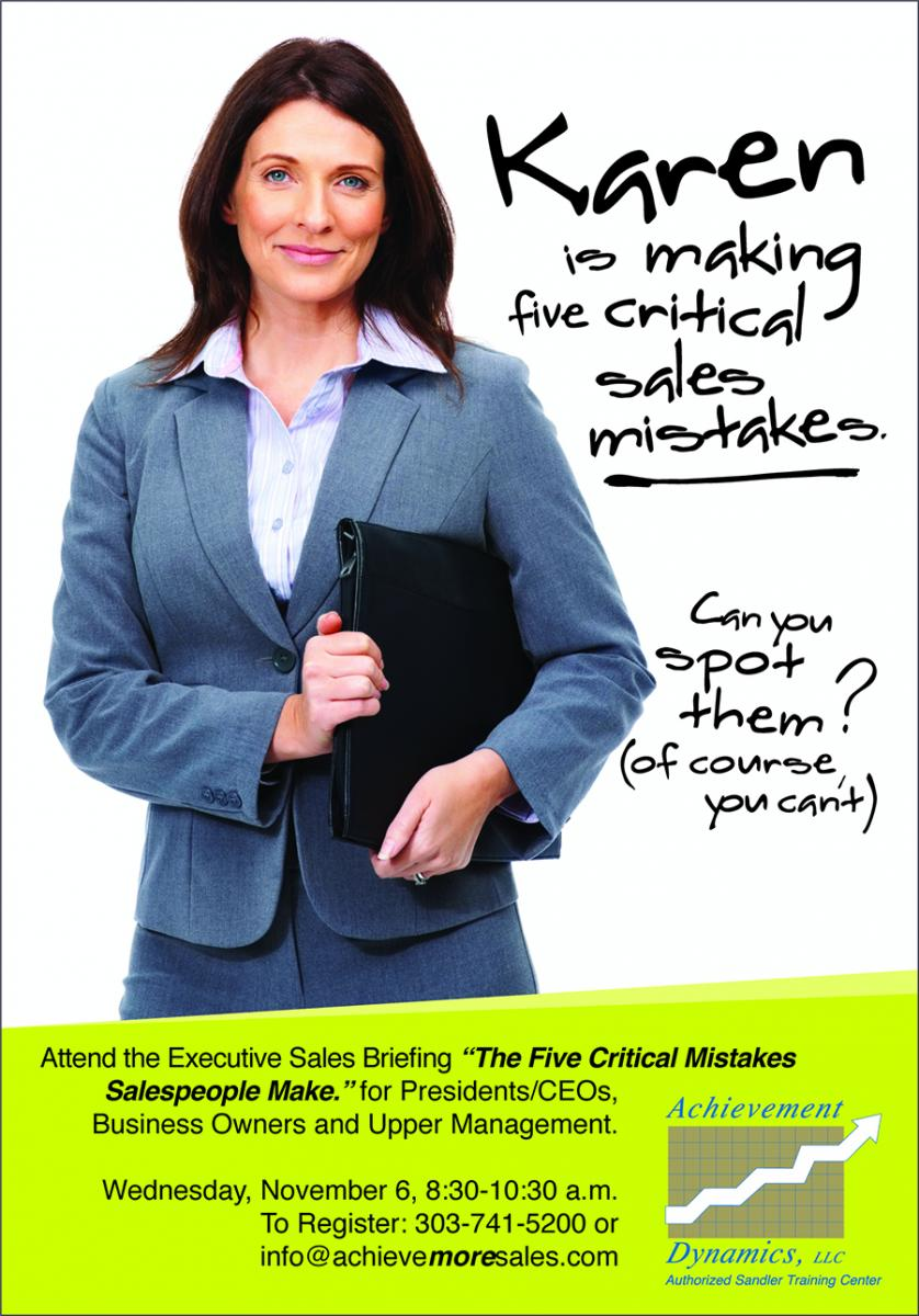Sales people have a certain reputation. Some deserve it. But the ones that have been trained by Achievement Dynamics avoid the traditional pitfalls of old school sales.