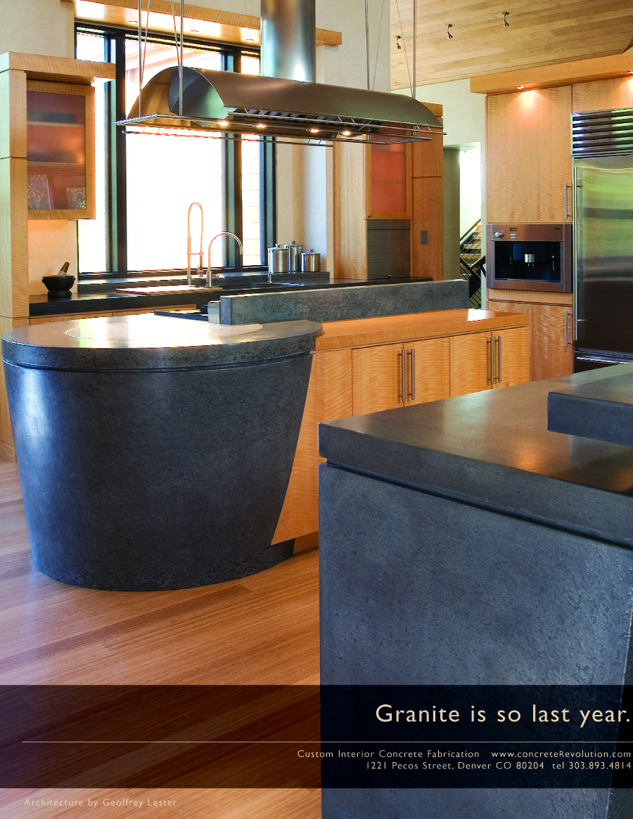 With everyone from Home Depot to the guy down the street selling granite we positioned Concrete Revolution as the best option to make your kitchen actually uniuque. Granite is so last year.