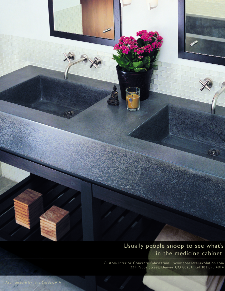 With a vanity this beautifuly unique, your guests will be looking at it instead of in your medicine cabinet.
