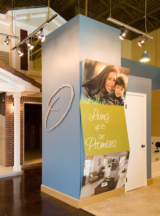 And actual house was built in the back of the showroom. Oakwood has some of the best construction methods in the industry. We could talk about it but like they say, a full scale house inside a home center speaks more than words....