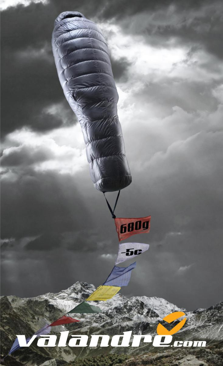 A sleeping bag that weights 23 ounces and can keep you comfortable down to 23 degrees Fahrenheit. This ad had to run in 4 different countries with 4 different languages and what would attract attention in the US might not do the same in European and Asian countries. Our solution was to keep the product benefit as a visual analogy for how light it is. And the ad stood out from all of its competitors.